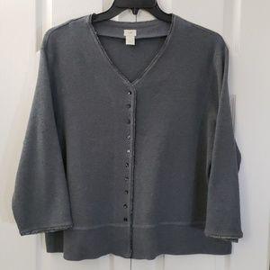 J.Jill Cardigan Sweater | Grey | Size XL